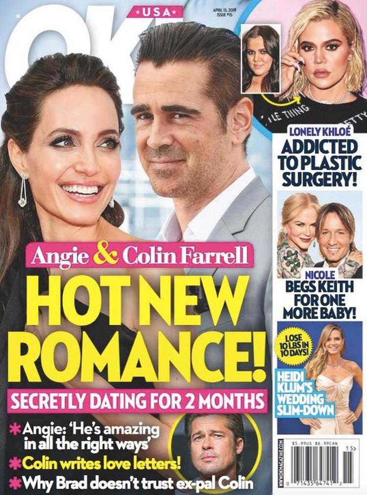 Друзья Джоли опровергли роман между нею и Колином Фареллом.