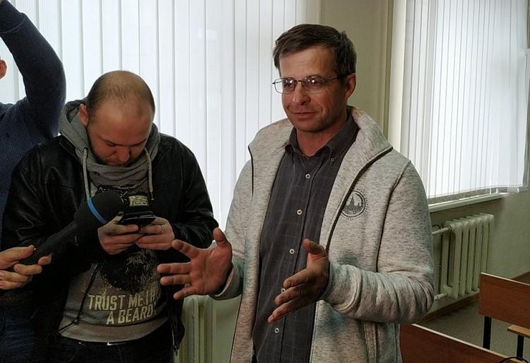 """Павел Караулов: """"Я удивлён, что суд - есть..."""". Фото Андрея Ястребова."""