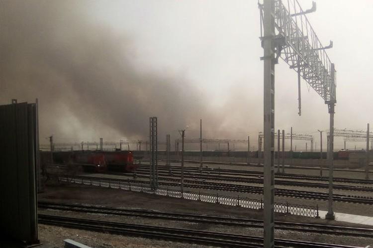 Дым от пожаров виден в разных районах Забайкалья. Фото: соцсети.