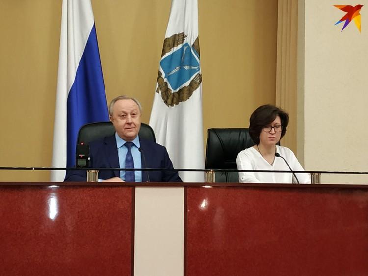 Валерий Радаев и руководитель пресс-службы Нина Попова