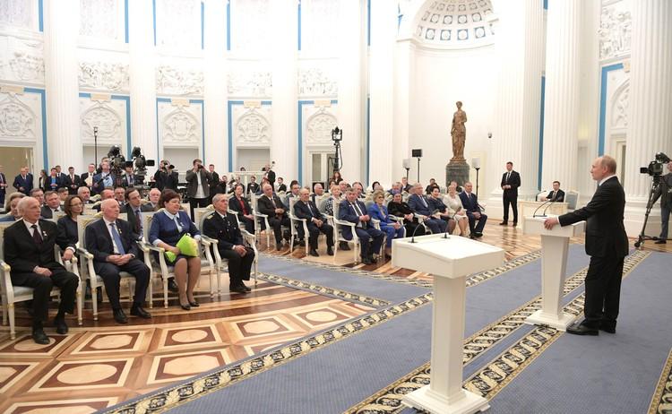 Церемония награждения. Фото: пресс-служба Кремля