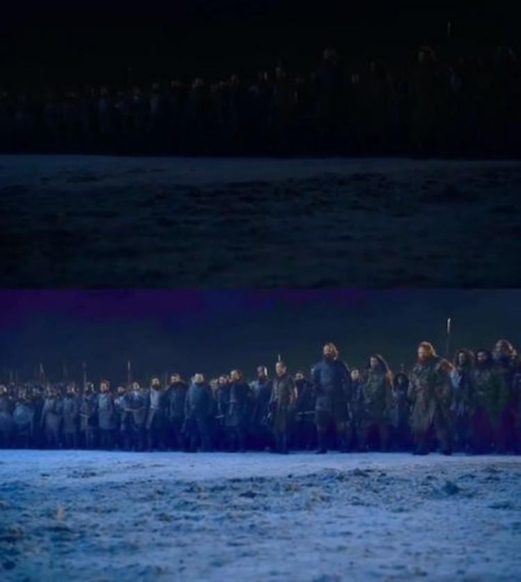 В сражении людей участвовало гораздо больше, чем мы смогли рассмотреть на темных экранах
