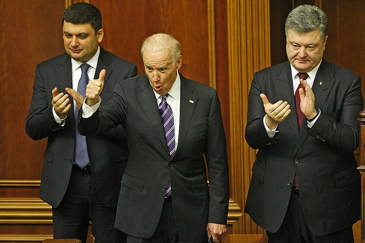 Февраль 2015 года. Вице-президент США Джозеф Байден на заседании Верховной рады Украины. Фото Zuma/TASS