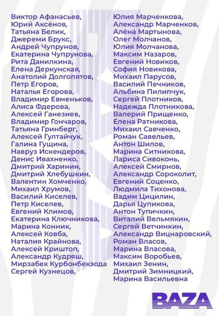Список тех, кто находился на борту самолета Москва-Мурманск. Фото: МЧС