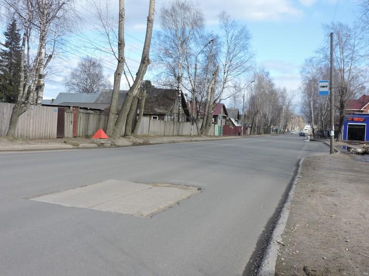 Улица Савина - одна из самых загруженных в городе