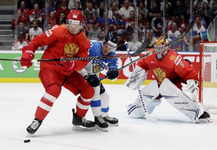 Наш вратарь Андрей Василевский был надежен в полуфинале с Финляндией.