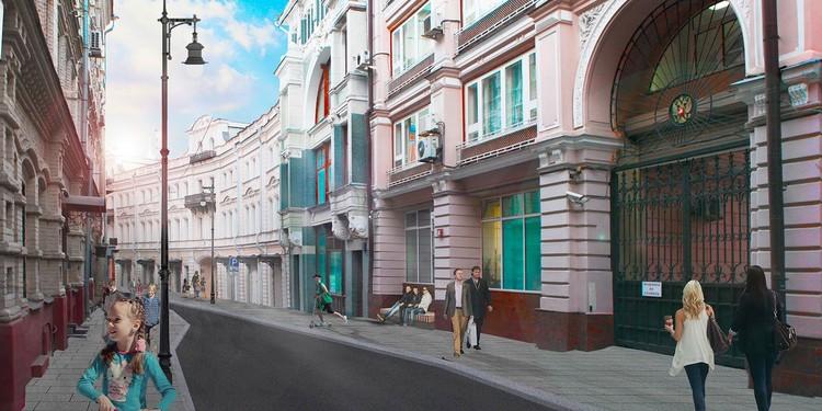 На улице Ильинке и в соседних с ней переулках реконструкция затронет площадь более пяти гектаров. Фото: mos.ru