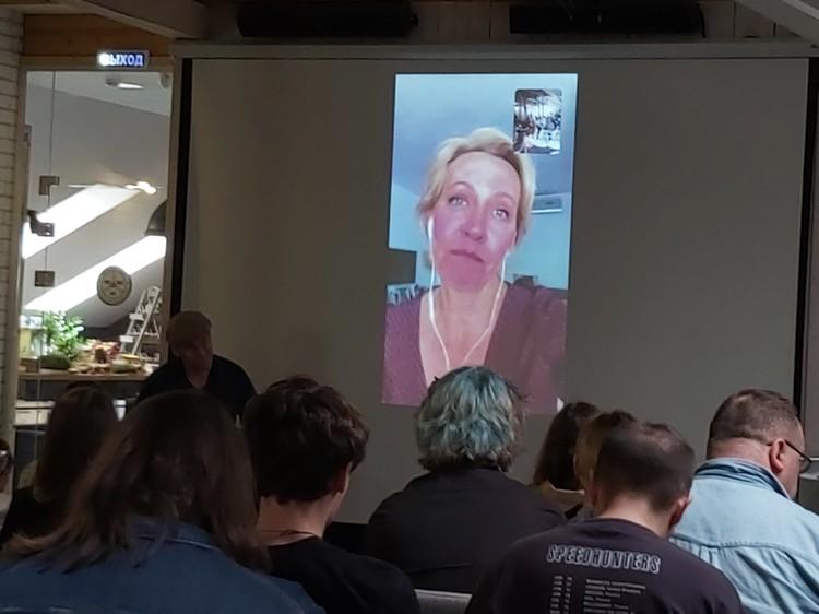 Татьяна Лазарева по скайпу из Испании рассказывает о проделанной работе