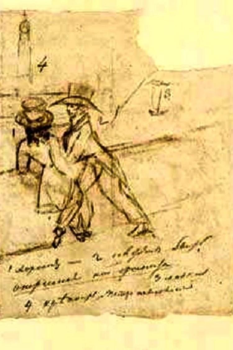 А это - никогда не догадаетесь... автопортрет Пушкина с Евгением Онегиным! Фото: Wikipedia