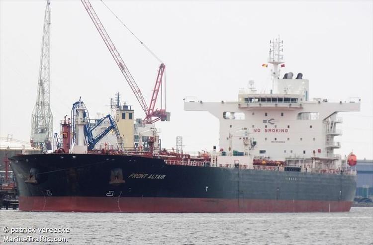 Судно с российским экипажем направлялось с нефтью в Тайвань\ФОТО: MarineTraffic.com