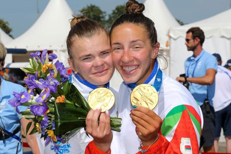 Марина Литвинчук и Ольга Худенко стали примами Европейских игр, каждая из них взяла по 4 медалей: 2 золота, серебро, бронзу. Фото: noc.by