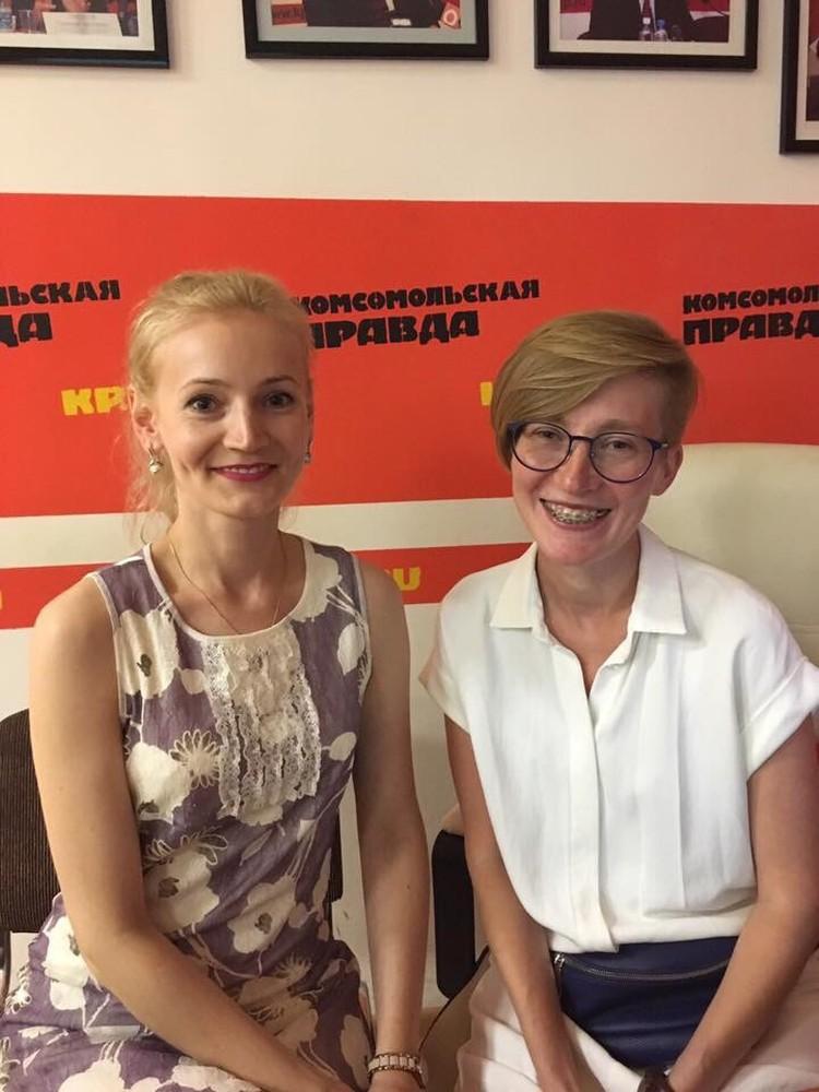 Психолог проекта «Знание остановит гендерное насилие» Татьяна Лощинина (слева) и руководитель Анастасия Бабичева (справа)
