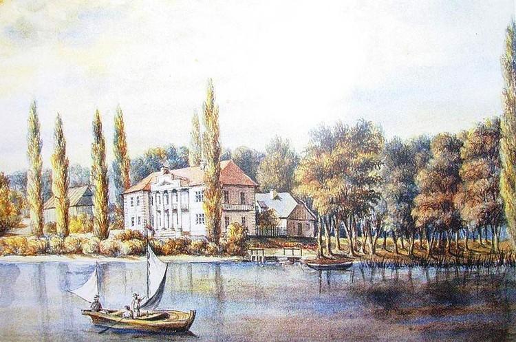 О том, каким райским уголком была усадьба в XIX веке, напоминает гравюра Наполеона Орды.