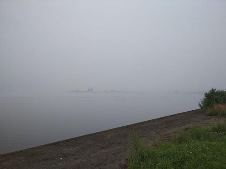 Дымка в Алтайском крае.