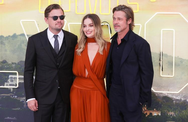 Экс-супруг Джоли представил в Лондон фильм «Однажды в Голливуде» вместе с Леонардо Ди Каприо и Марго Робби
