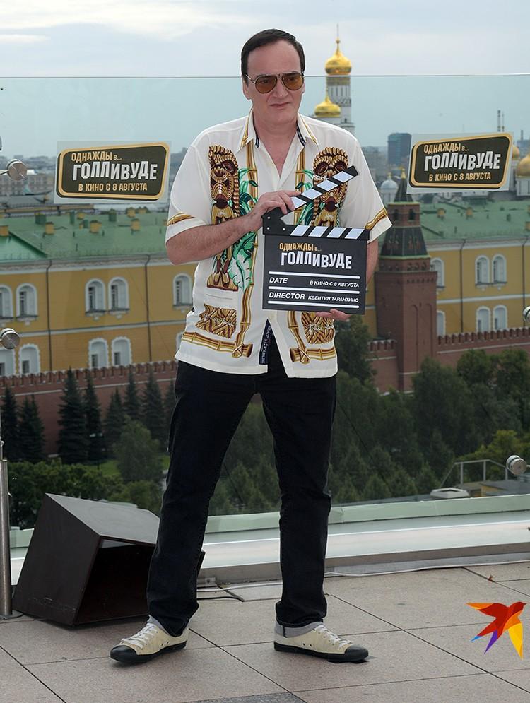 Квентин Тарантино приехал в Москву с новым фильмом