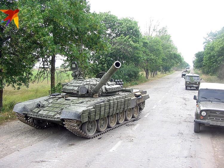 Грузины бежали, бросив танк