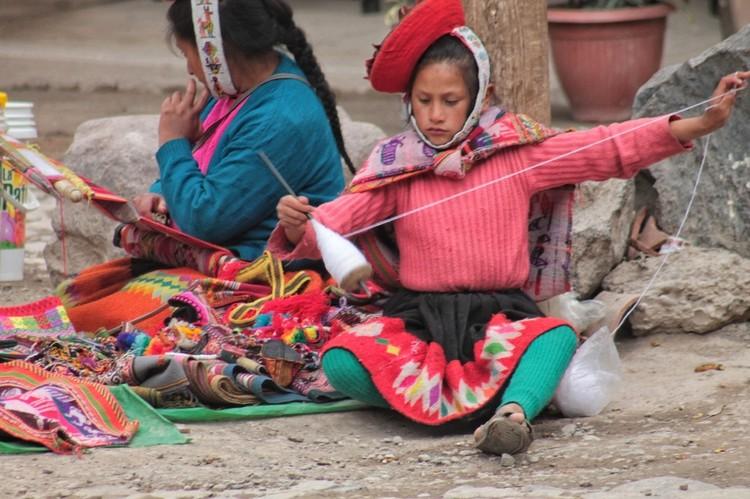 Девочка из племени Кечуа