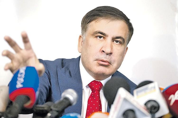 Лидер «революции роз» Михаил Саакашвили.