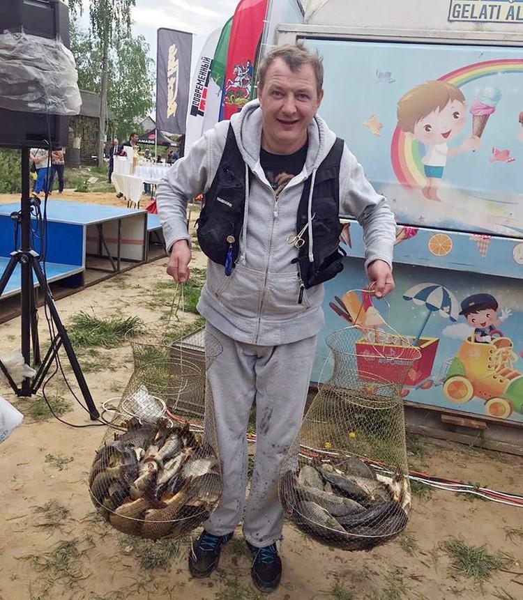 Марат Башаров - заядлый рыбак