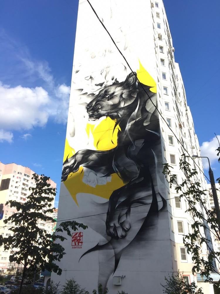 Стрит-арт украсил более 50 фасадов многоэтажных домов. Фото: предоставлено организаторами фестиваля Urban Morphogenesis