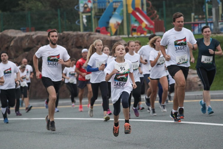 Массовая пробежка прошла на острове Русский. Фото: photo.roscongress.org