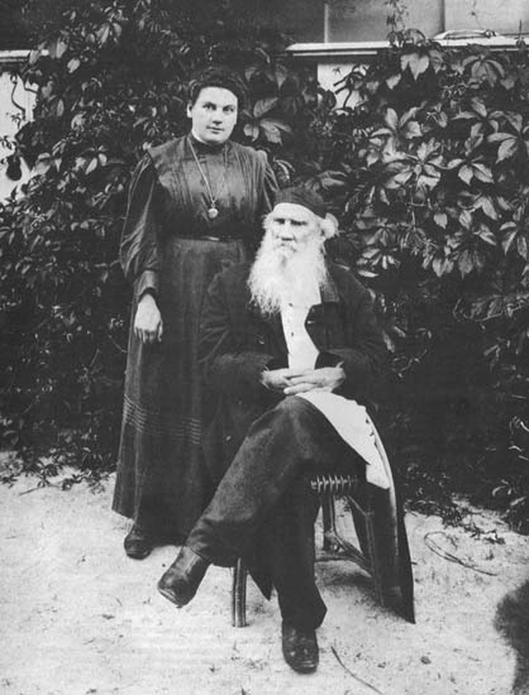 Александра Толстая с отцом