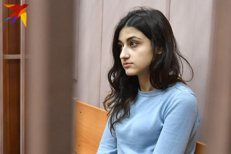 Крестина Хачатурян в Басманном суде Москвы, сентябрь 2018 года.