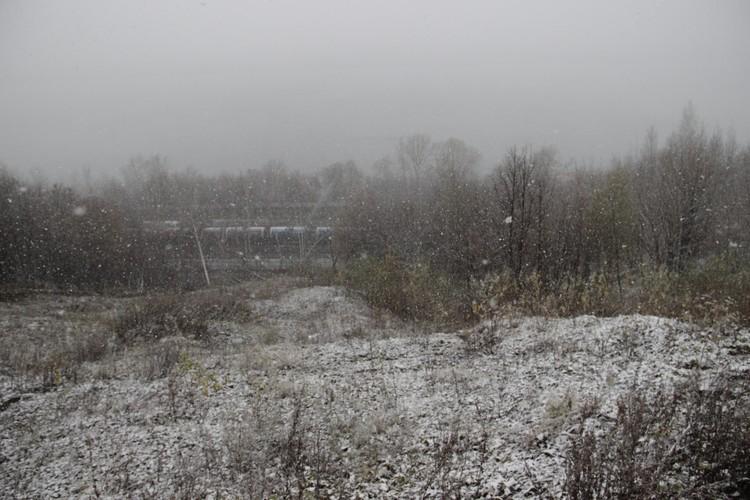 В лог идет очень крутой спуск, который сейчас размыло из-за снега