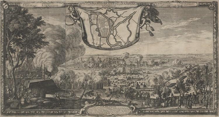 Город и Берестейский замок на гравюре Эрика Дальберга 1657 года. Это, пожалуй, единственное изображение города до его разрушения.