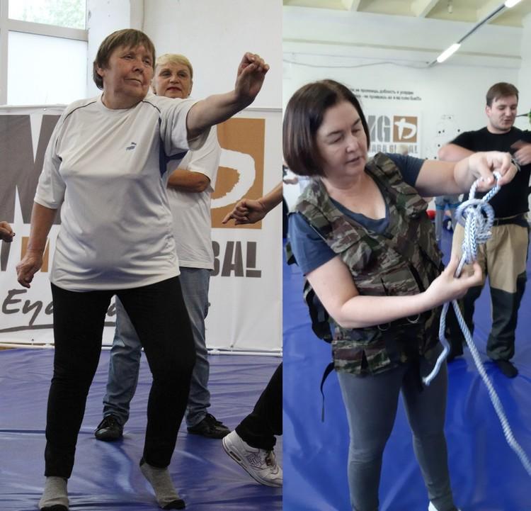 Пенсионерки учатся вязать крепкие узлы и реагировать на агрессию Фото: vk.com/starsheepokolenie