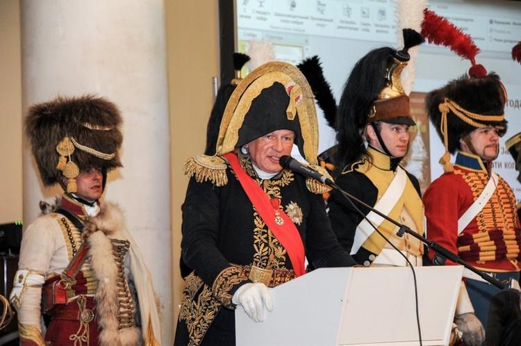 В то же время Соколов-«Наполеон» - бодр, энергичен и уверен в себе. Фото: СПбГУ