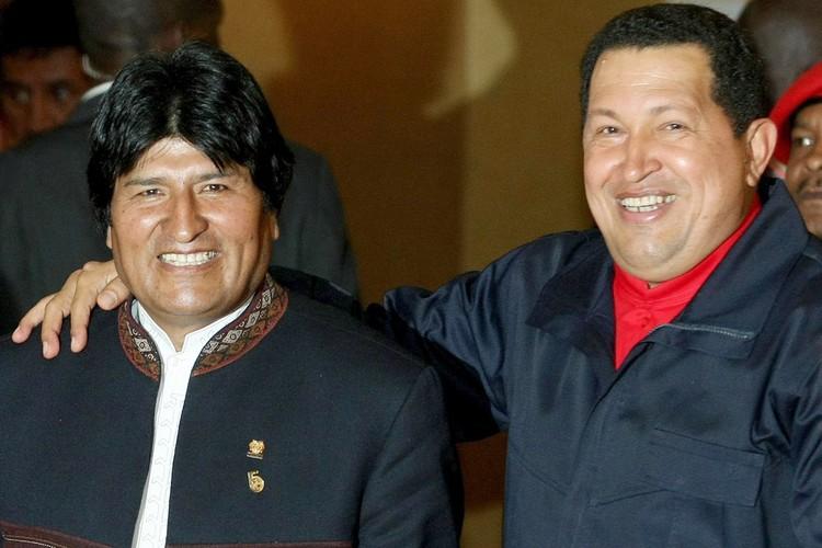 Эво Моралес и Уго Чавес.