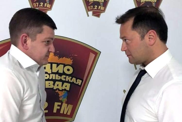 Никита Исаев и обозреватель «КП» Роман Карманов.