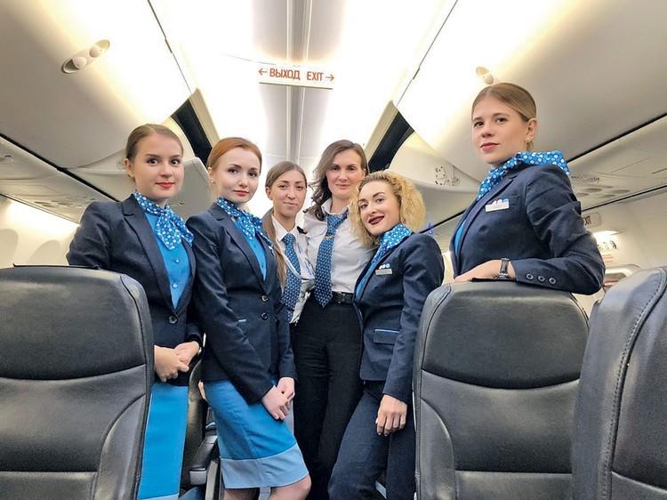В 2018 году российская авиакомпания «Победа» сформировала экипаж, состоящий исключительно из женщин
