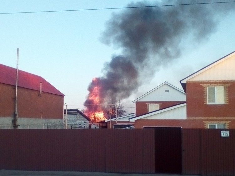 Пожар представлял собой жуткое зрелище