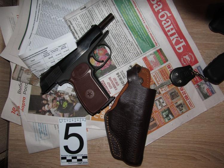 Пистолет, из которого стрелял Непомнящий. Фото: предоставлено Евгением Шатиловым.