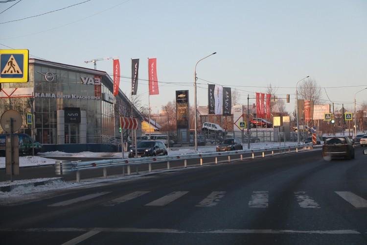 Шахтеров - одна из самых загруженных улиц Красноярска - в часы пик здесь всегда пробки