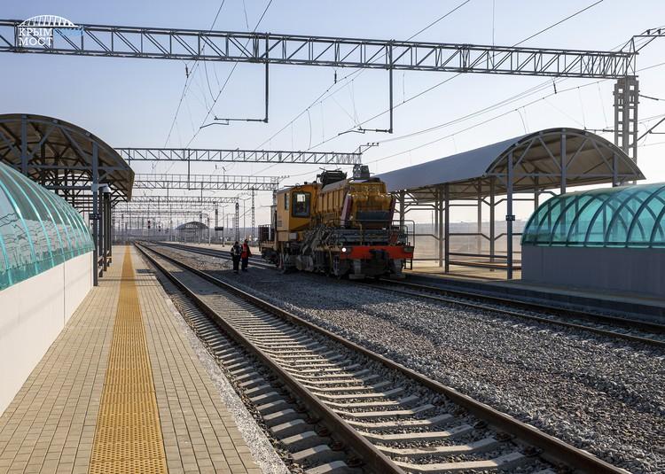 Железнодорожный вокзал в Тамани Фото: инфоцентр Крымский мост
