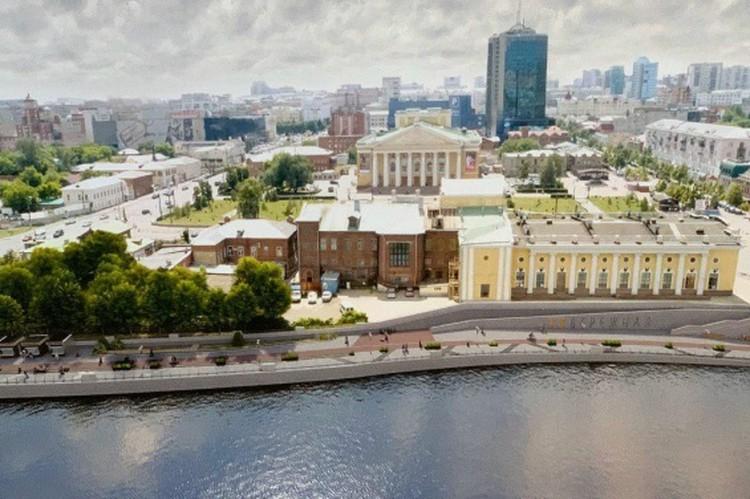 Наконец-то в Челябинске появиться нормальная набережная. Эскиз: «УралДорПроект»