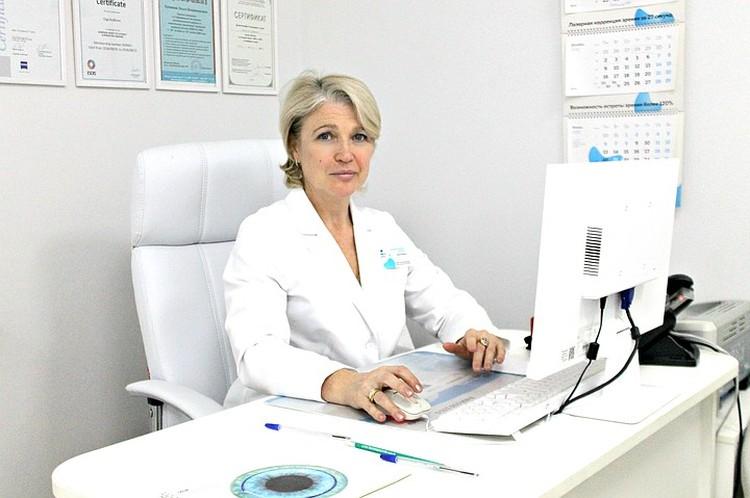 Офтальмохирург клиники «Три-З», врач высшей категории Ирина Бобрышева.