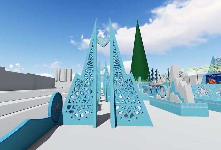 Арки, а рядом с ними и фестиваль ледовой скульптуры разместятся в городке вдоль проспекта Ленина. Фото: администрация Екатеринбурга