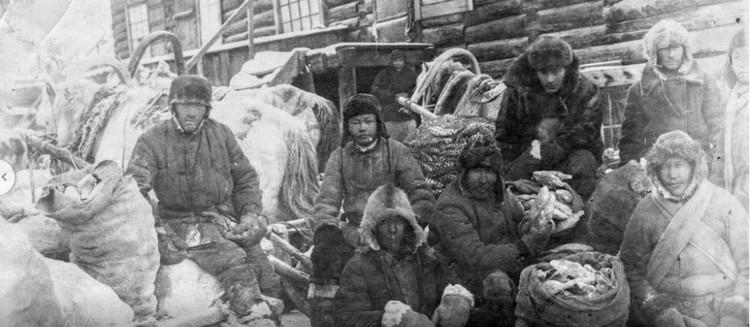 Рыбаки, 1941-1943 годы. Фото Национального архива РС(Я).