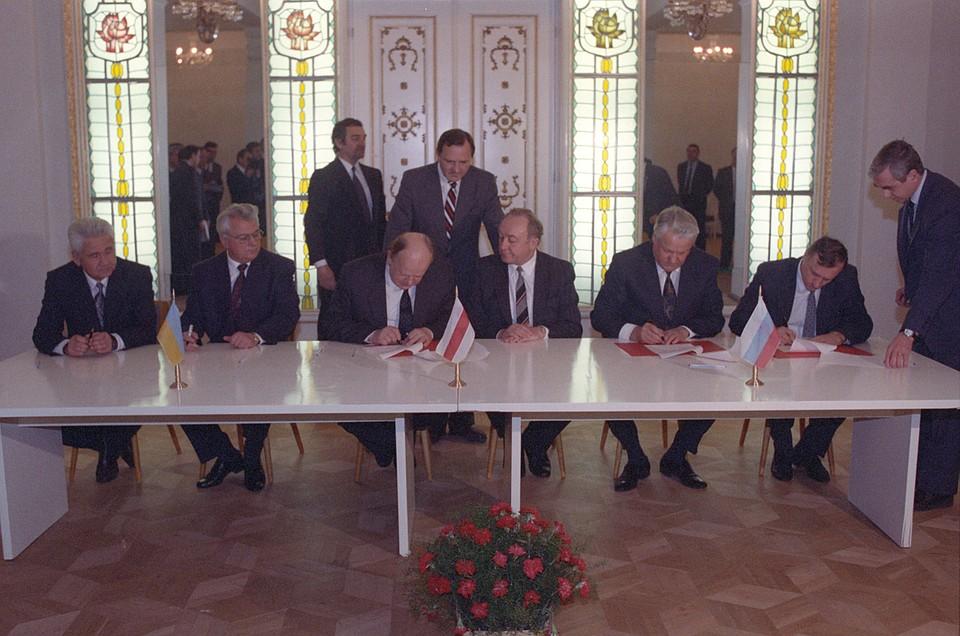 Подписание соглашения о создании СНГ. Фото: Юрий Иванов/РИА Новости