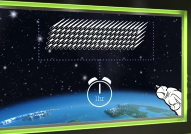 """Некоторые астрономы обещают более 100 падающих """"геминид"""" в час."""