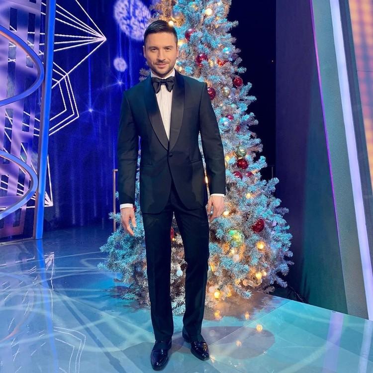 Сергей Лазарев на съемках Новогоднего огонька