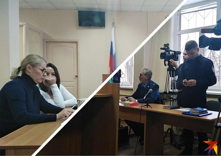 Напротив адвокатов Евгения Тефтелева сидят представитель прокуратуры и следователь.