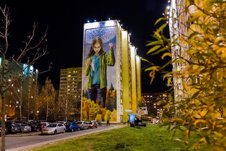 Граффити «Лічбавы свет» - победитель ноября в конкурсе международного сообщества стрит-арта Street Art Cities. Фото: предоставлено организаторами