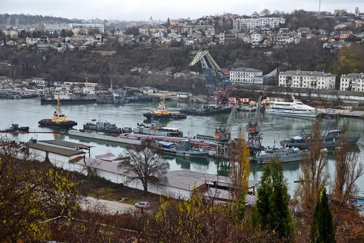 В Южную бухту прибыли водолазные суда и рейдовые буксиры.