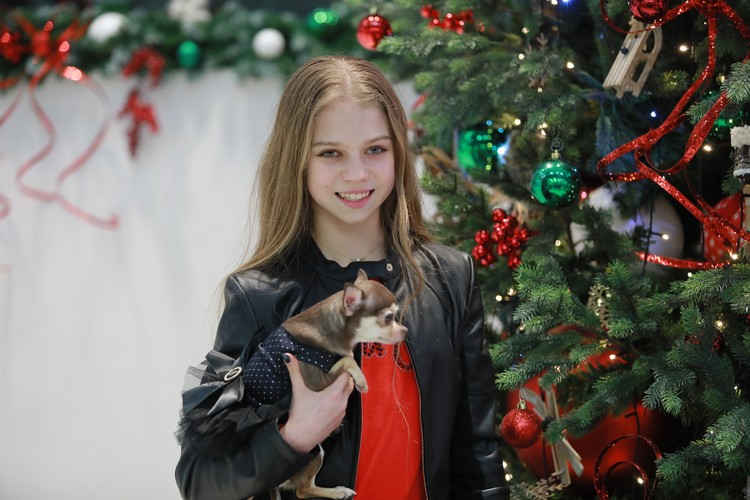 Александра Трусова с собакой